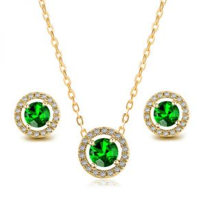 Sapphire Pendant and Earring Set 5