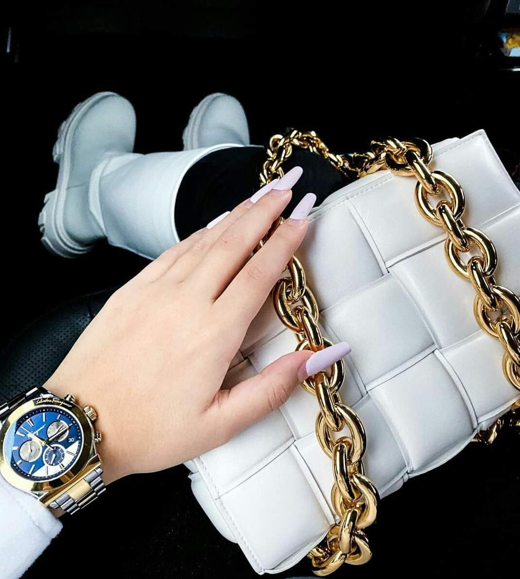 2 White Exclusive Soft Material Cross Body Bag