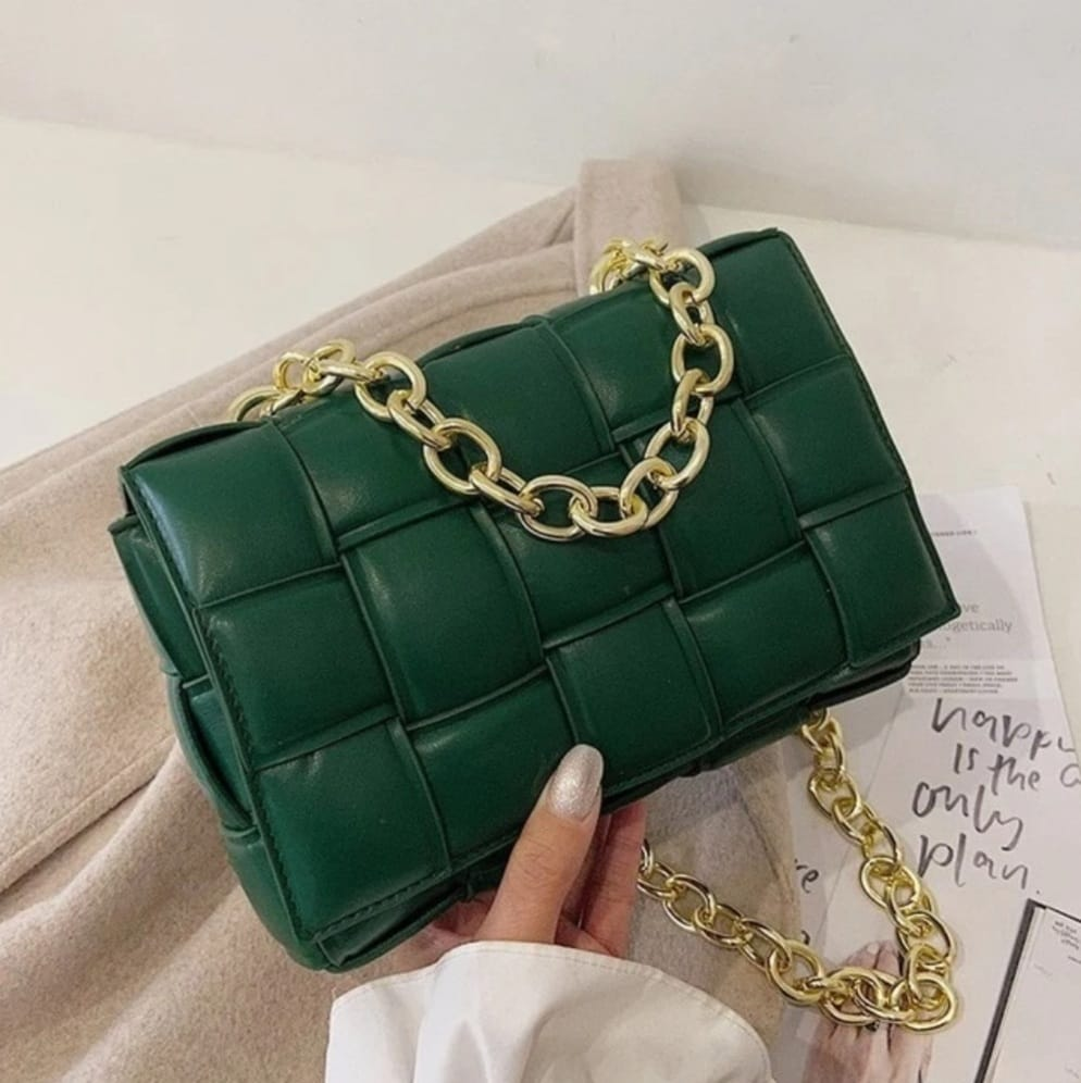 Green Exclusive Soft Material Cross Body Bag