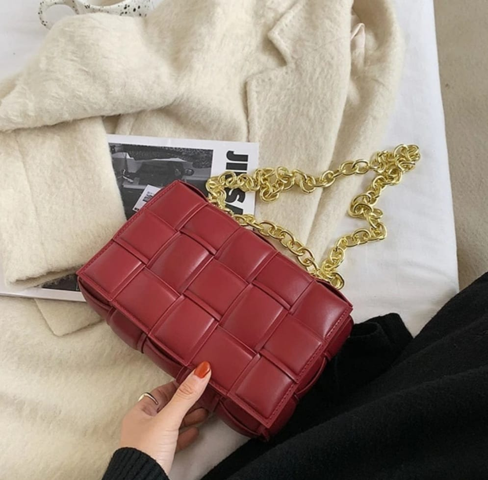 Maroon Exclusive Soft Material Cross Body Bag