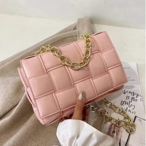 Pink Exclusive Soft Material Cross Body Bag