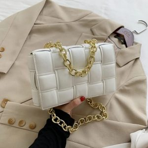 White Exclusive Soft Material Cross Body Bag