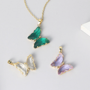 Beautiful Crystal Butterfly Pendant